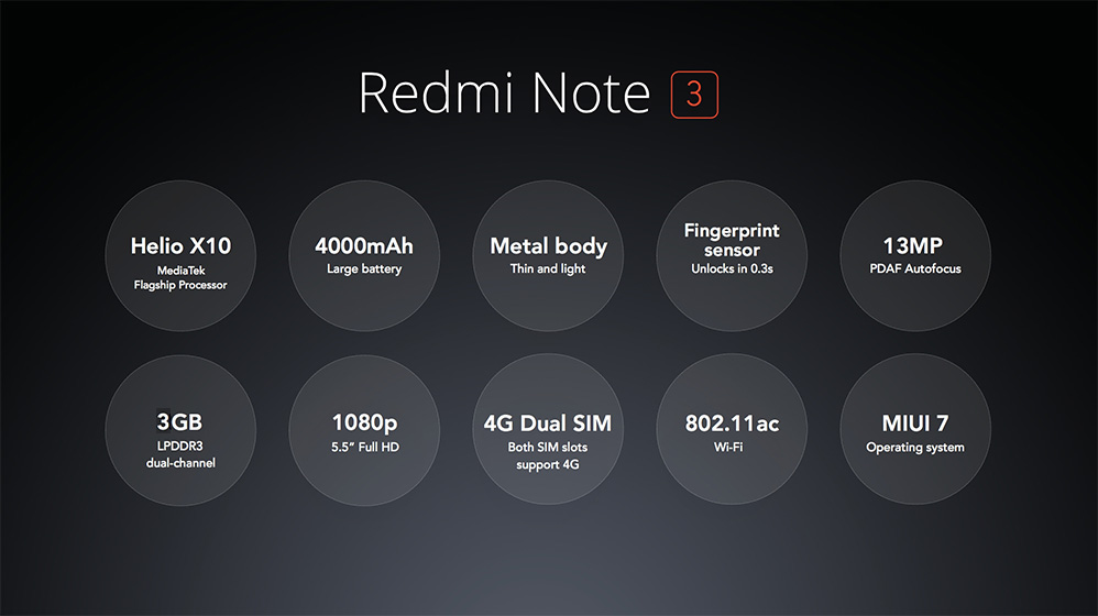 Смартфон Xiaomi Redmi Note 3 хардуер