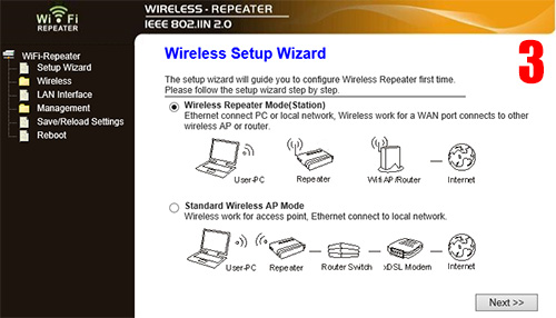 3G/WiFi Repeater настройки